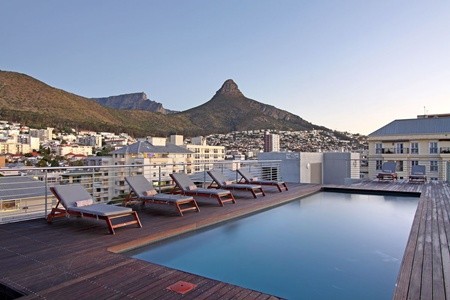 The Hyde Luxury Hotel in Sea Point offers exquisite views of the City and surrounding peninsula