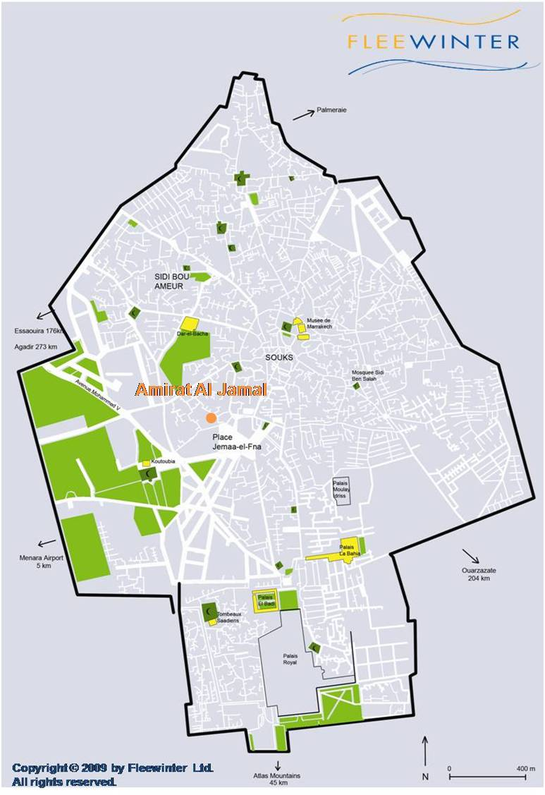 Amirat al Jamal Boutique Hotel Map