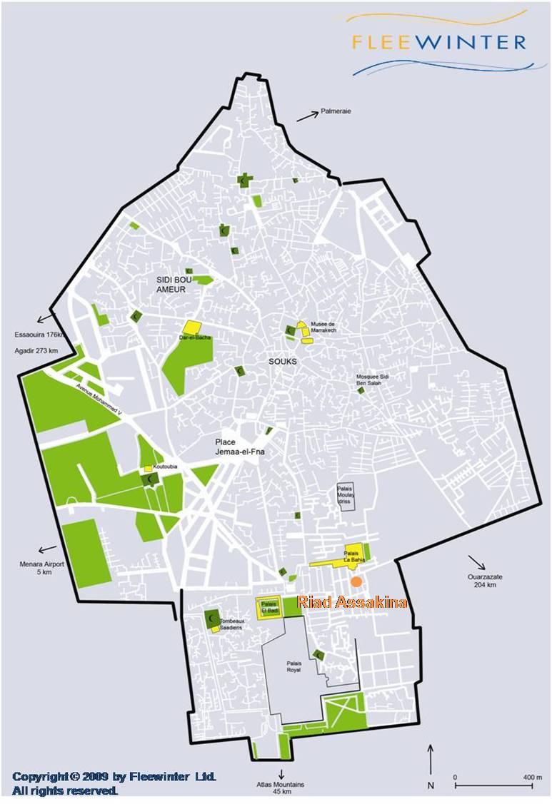 Riad Assakina Boutique Hotel Map