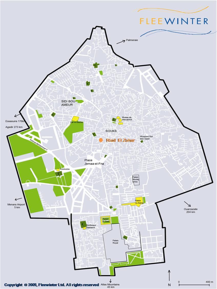 Riad El Zohar, Boutique Hotel Map