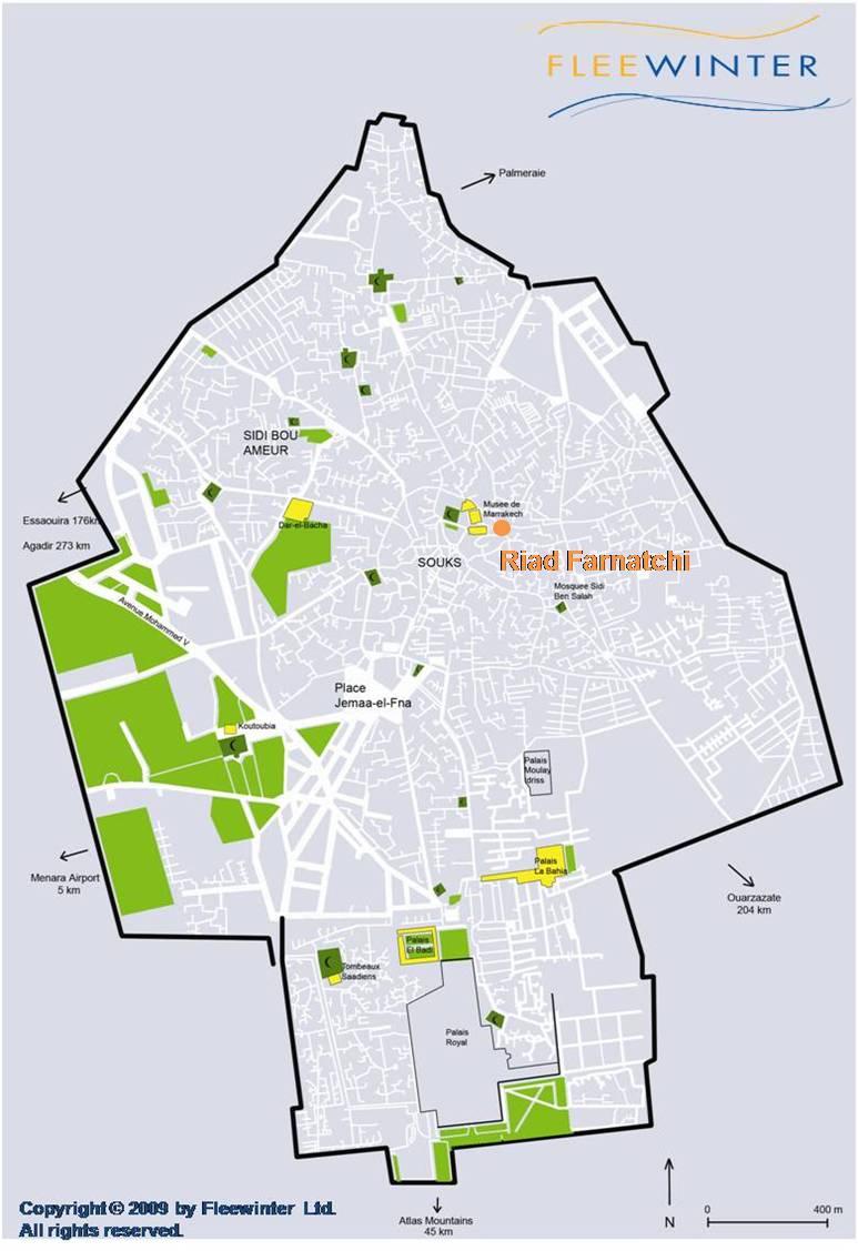 Riad Farnatchi Luxury Hotel Map