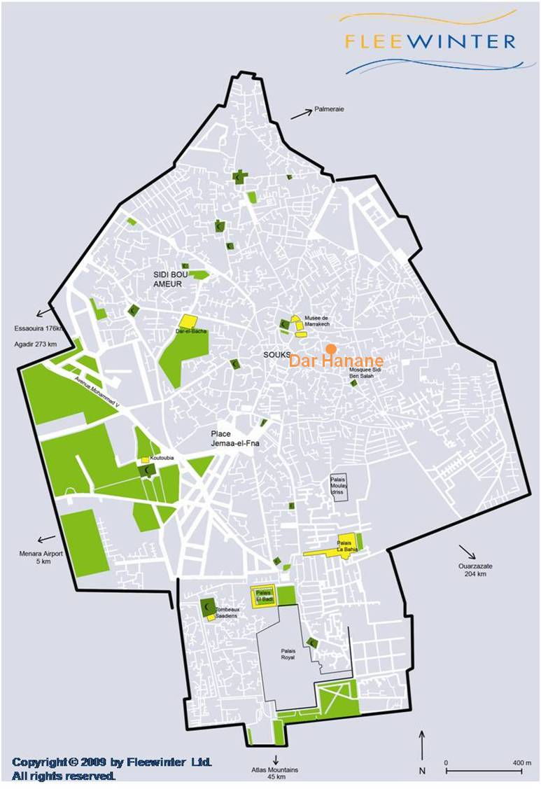 Dar Hanane Boutique Hotel Map