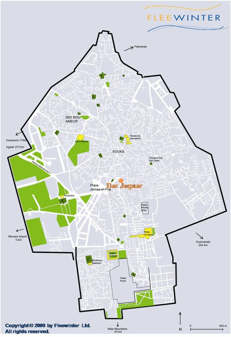 Dar Jaguar Riad Hotel Map