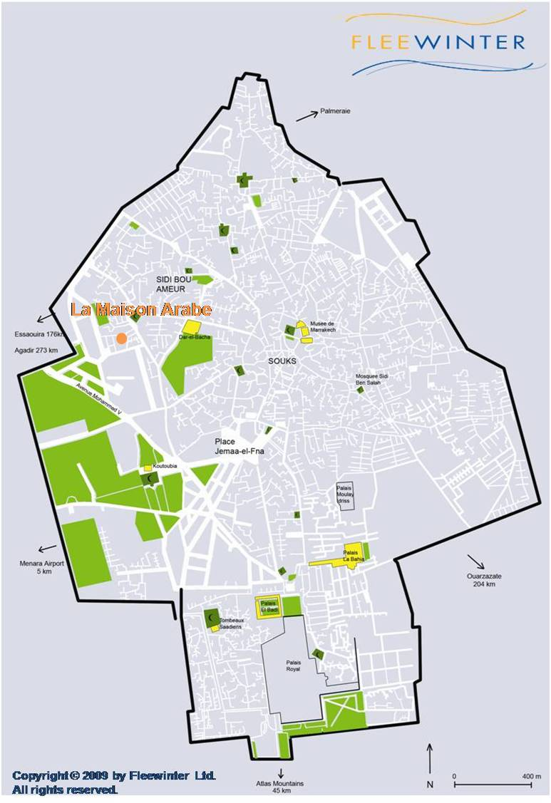 La Maison Arabe Luxury Hotel Map