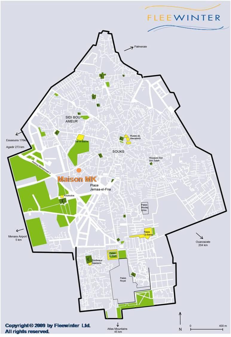maison mk Luxury Hotel Map