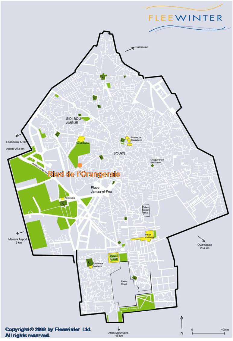 Riad l'Orangeraie Boutique Hotel Map