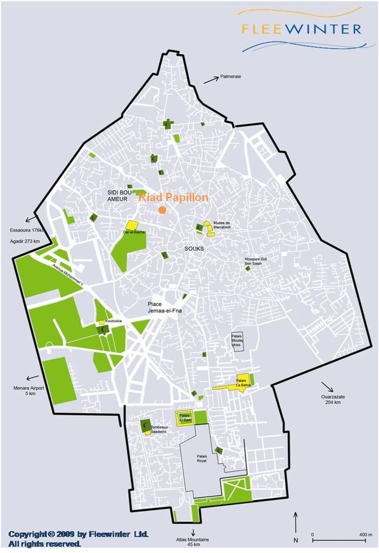 Riad Papillon Boutique Guesthouse Map