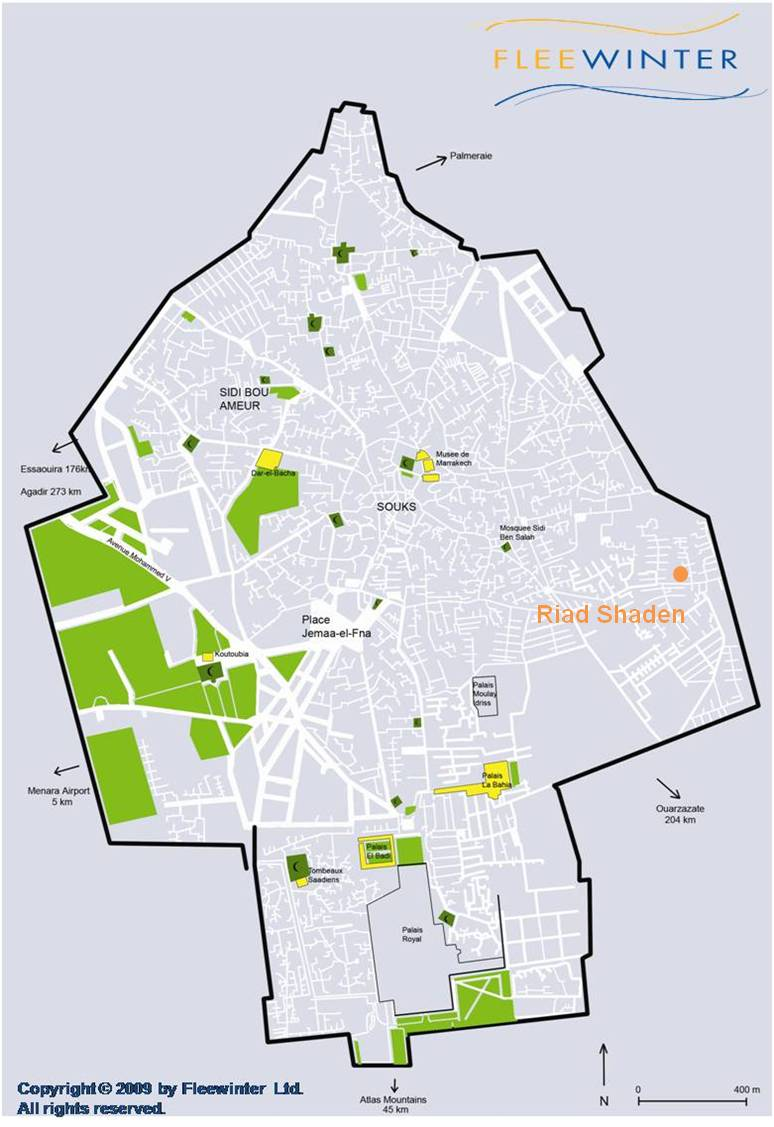 Riad Shaden Boutique Guesthouse Map