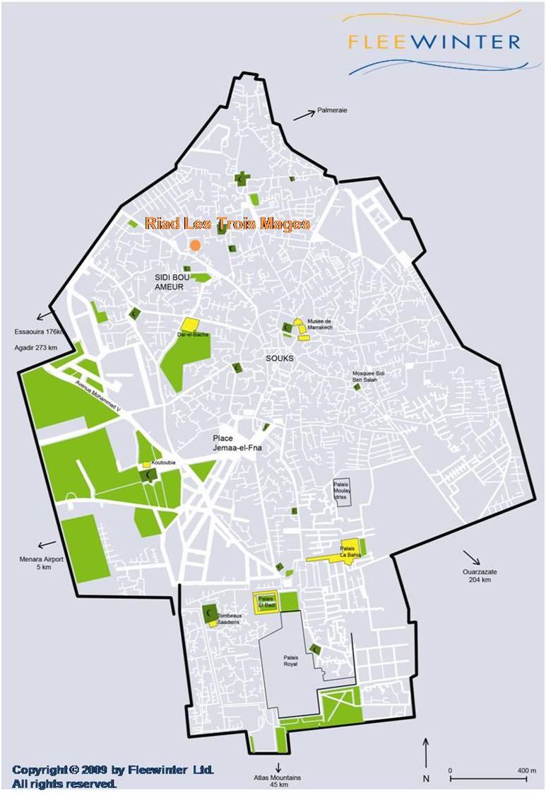 Les Trois Mages Boutique Hotel Map