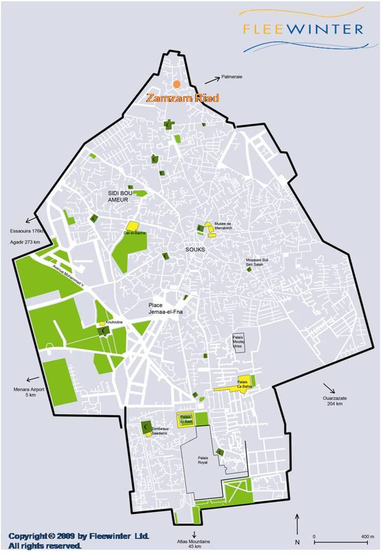 Zamzam Riad Boutique Hotel Map