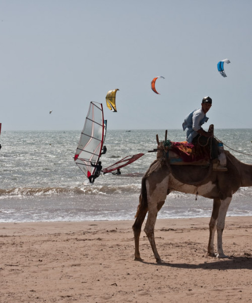 Holiday activities on the beach in Essaouira