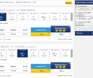 Marrakech return flights for £33.82