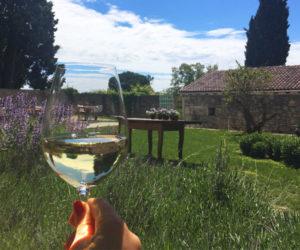 Enjoyin a glass of Malvasia in Istria