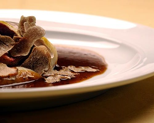 A plate with truffles