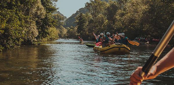 Rafting in Croatia's national parks